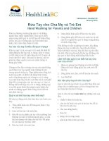 Rừa Tay cho Cha Me và Trẻ Em - Hand Washing for Parents and Children