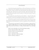 ĐỒ ÁN TỐT NGHIỆP THIẾT KẾ THÁP CHƯNG LUYỆN LIÊN TỤC 2 CẤU TỬ  benzen VÀ toluen.DOC