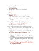 câu hỏi trắc nghiêm UML và đáp án chi tiết mỗi câu hỏi