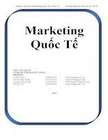 Tiểu luận môn Marketing quốc tế THỊ TRƯỜNG XUẤT KHẨU TÔM VIỆT NAM VÀO THỊ TRƯỜNG NHẬT BẢN