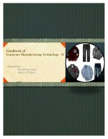 Garments Manufacturing Technology