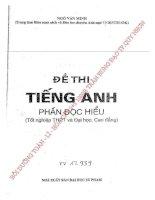 Đề thi tiếng anh phần đọc hiểu-Ngô Văn Minh