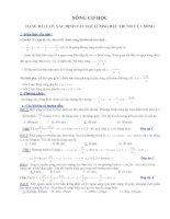Cách giải bài toán xác định xác định các đại lượng đặc trưng của sóng