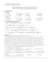 Bộ đề thi tham khảo THPT các trường  môn anh có đáp án