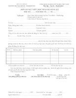 Đơn xin rút bớt học phần đăng ký tín chỉ (Trường ĐH Tài chính Marketing)