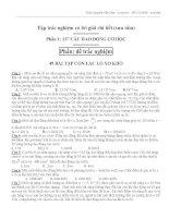 137 câu trắc nghiệm dao động cơ học có đáp án