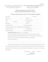 Mẫu đơn xin hưởng trợ cấp xã hội (Trường ĐH Công đoàn)