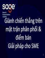 SAGE Winning Trade Marketing for talkshow