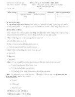 Đề kiểm tra cuối học kì 2 môn Tiếng Việt lớp 2 năm học 2014-2015 trường Tiểu học Kim Bài, Hà Nội