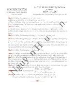 Phân tích kỹ thuật giải đề toán ôn thi THPT quốc gia 2015