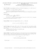 Đề thi tuyển sinh lớp 10 môn toán chuyên vĩnh phúc năm học 2011 - 2012(có đáp án)
