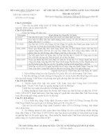 Đề thi chính thức THPT Quốc gia môn Lịch sử năm 2015