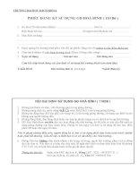Phiếu đăng ký sử dụng giảng đường (Trường ĐH Bách khoa_ĐH Quốc gia TP.HCM)