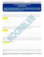 Tuyển tập câu hỏi trắc nghiệm môn vật lý phần sóng cơ (6)