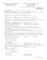 thpt quảng trị đề thi thử môn hóa lần 2 mã đề 485