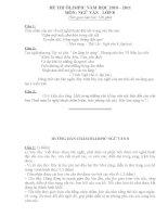 Đề thi Olympic ngữ văn lớp 6, 7, 8