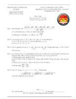 Đề thi tuyển sinh vào lớp 10 môn toán trường THPT Chuyên Biên Hòa , Hà Nam năm 2013,2014