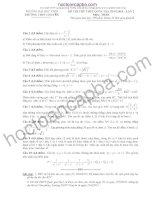 Đề thi thử THPT quốc gia môn toán 2015 đại học vinh lần 2