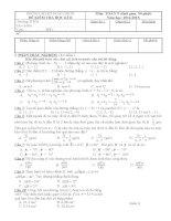 Đề thi học kì II môn toán 9 Hoàn Nhơn năm học 2014 - 2015(có đáp án)