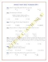 100 bài toán trắc nghiệm toán lớp 5