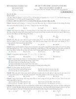 Đề thi - Đáp án thi Cao đẳng môn Vật Lý năm 2013 - Khối A1