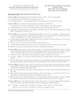 Đề thi Cao học trường Đại học kinh tế Quốc Dân năm 2012 - Môn Toán kinh tế (Có đáp án)