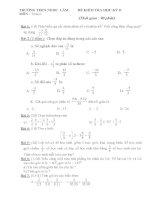 Tổng hợp đề kiểm tra học kì II môn toán học lớp 6 năm học 2013   trường THCS ngọc lâm