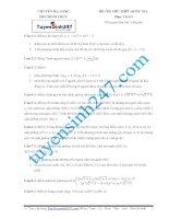 đề thi thử thpt quốc gia môn toán trường chuyên hạ long lần 1