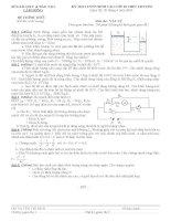 Đề thi tuyển sinh lớp 10 môn Vật lý chuyên Lâm Đồng năm học 2009 - 2010(có đáp án)