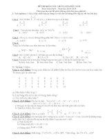Đề thi khảo chất lượng đầu năm môn toán lớp 8