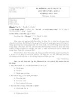 Đề kiểm tra cuối học kì 2 môn Tiếng Việt lớp 3 năm 2015 trường Tiểu học Yên Mỹ 1, Hưng Yên