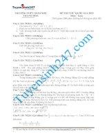 đề thi thử thpt quốc gia môn toán trường THPT nghi sơn