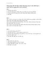 Tổng hợp đề thi Bảo hiểm thương mại 1 3tc K54 kỳ 1 năm 2014