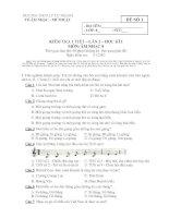 Đề kiểm tra một tiết lần 2 học kỳ i môn âm nhạc 8   trường THCS lý tự trọng   đề số 1