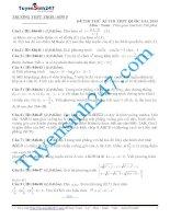 đề thi thử thpt quốc gia môn toán trường  THPT triệu sơn 5