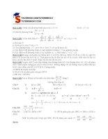 Đề kiểm tra 1 tiết toán học 10 phần 4 (kèm hướng dẫn)