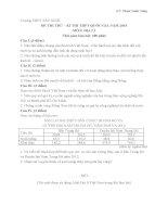 Đề thi thử THPT Quốc gia môn Địa lý năm 2015 trường THPT Tây Ninh, Tây Ninh (Đề số 01)