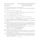 Đề thi tuyển sinh lớp 10 môn toán năm 2013 2014   sở GD  đt lâm đồng