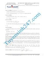 đề thi thử thpt quốc gia môn toán trường chuyên khoa học tự nhiên lần 2