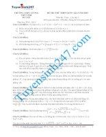 đề thi thử thpt quốc gia môn toán trườngTHPT lương thế vinh   hà nội lần 1