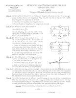 Đề thi tuyển sinh lớp 10 môn Vật lý chuyên Thái Bình năm học 2008 - 2009(có đáp án)