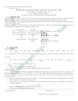 đề thi học phần môn điện kỹ thuật 2011  2012truong DHSPTPHCM