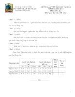 Đề thi Giáo viên dạy giỏi cấp THPT Thuận Thành số 1 tỉnh Bắc Ninh năm 2013 môn thể dục