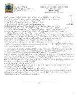 Đề thi Giáo viên dạy giỏi cấp THPT Thuận Thành số 1 tỉnh Bắc Ninh năm 2013 môn vật lý