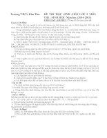 Đề thi và đáp án tham khảo môn sinh học lớp 9 bồi dưỡng 2015 (7)