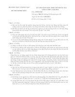 Đề thi học sinh giỏi Quốc gia môn Sinh học lớp 12 năm 2011 - Có đáp án (Ngày thi thứ nhất)