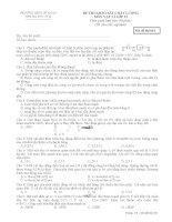 Đề thi khảo sát chất lượng môn Vật lý lớp 12 - Trường THPT Lê Xoay tỉnh Vĩnh Phúc