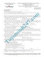 đề thi thử thpt quốc gia môn hóa trường THPT chuyên tuyên quang