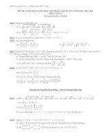 Đề thi học sinh giỏi lớp 9 cấp Huyện, phòng GD-ĐT Đức Thọ năm 2013 - 2014 môn toán