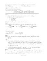 đề thi hóa đại cương 1